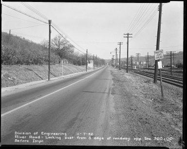Street Improvement Photographs -- Box 51, Folder 24 (November 7, 1952) -- negative, 1952-11-07