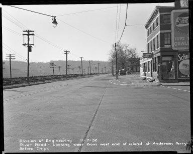 Street Improvement Photographs -- Box 51, Folder 25 (November 7, 1952) -- negative, 1952-11-07