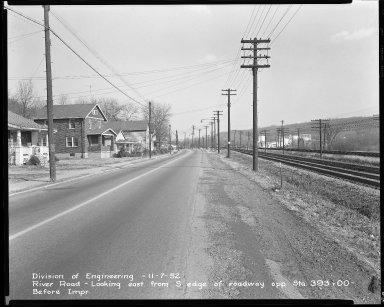 Street Improvement Photographs -- Box 51, Folder 26 (November 7, 1952) -- negative, 1952-11-07