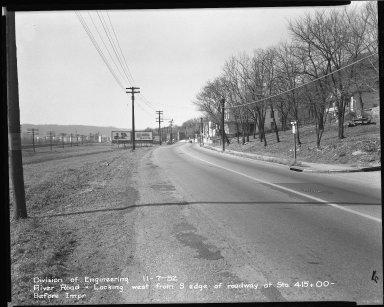 Street Improvement Photographs -- Box 51, Folder 27 (November 7, 1952) -- negative, 1952-11-07