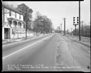 Street Improvement Photographs -- Box 51, Folder 28 (November 7, 1952) -- negative, 1952-11-07