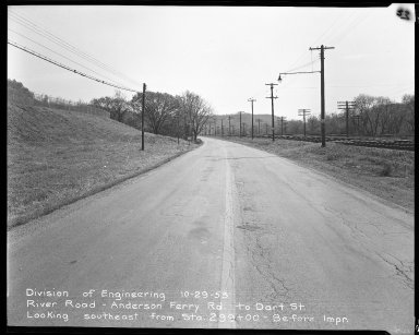 Street Improvement Photographs -- Box 51, Folder 31 (October 29, 1953) -- negative, 1953-10-29