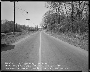Street Improvement Photographs -- Box 51, Folder 32 (October 29, 1953) -- negative, 1953-10-29