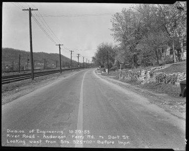 Street Improvement Photographs -- Box 51, Folder 33 (October 29, 1953) -- negative, 1953-10-29