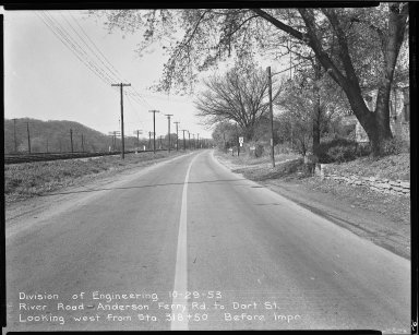 Street Improvement Photographs -- Box 51, Folder 33 (October 29, 1953) -- negative, 1953-10-29