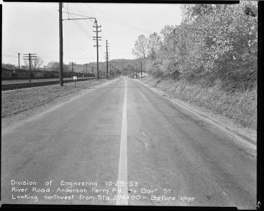Street Improvement Photographs -- Box 51, Folder 34 (October 29, 1953) -- negative, 1953-10-29