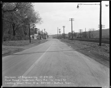 Street Improvement Photographs -- Box 51, Folder 35 (October 29, 1953) -- negative, 1953-10-29