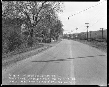 Street Improvement Photographs -- Box 51, Folder 36 (October 29, 1953) -- negative, 1953-10-29
