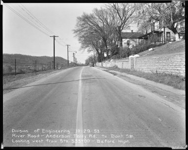 Street Improvement Photographs -- Box 51, Folder 36 (October 29, 1953) -- negative, 1953-10-29