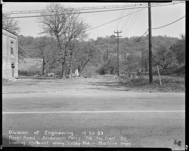 Street Improvement Photographs -- Box 51, Folder 37 (October 30, 1953) -- negative, 1953-10-30