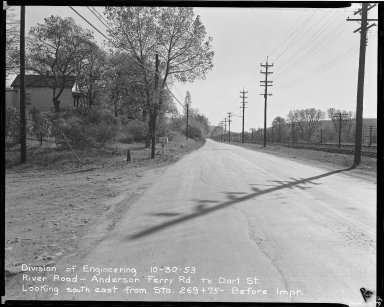 Street Improvement Photographs -- Box 51, Folder 37 (October 30, 1953) -- negative, 1953-10-30
