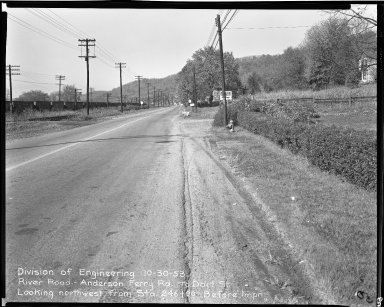 Street Improvement Photographs -- Box 51, Folder 38 (October 30, 1953) -- negative, 1953-10-30