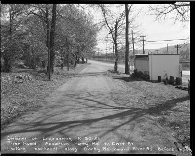 Street Improvement Photographs -- Box 51, Folder 40 (October 30, 1953) -- negative, 1953-10-30