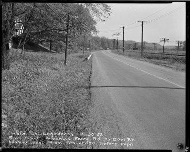 Street Improvement Photographs -- Box 51, Folder 41 (October 30, 1953) -- negative, 1953-10-30