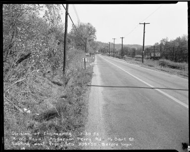 Street Improvement Photographs -- Box 51, Folder 41 (October 30, 1953) -- negative, 1953-10-30