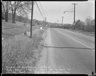 Street Improvement Photographs -- Box 51, Folder 42 (October 30, 1953) -- negative, 1953-10-30