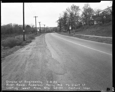 Street Improvement Photographs -- Box 51, Folder 44 (November 3, 1953) -- negative, 1953-11-03