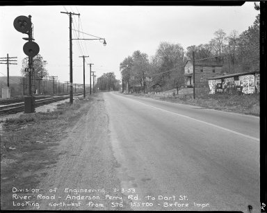 Street Improvement Photographs -- Box 51, Folder 44 (November 3, 1953) -- negative, 1953-11-03