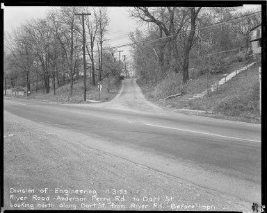 Street Improvement Photographs -- Box 51, Folder 46 (November 3, 1953) -- negative, 1953-11-03