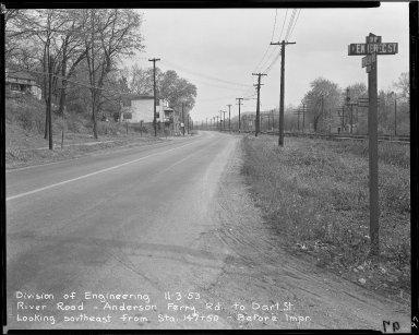 Street Improvement Photographs -- Box 51, Folder 46 (November 3, 1953) -- negative, 1953-11-03
