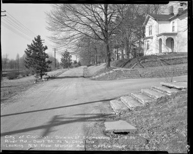 Street Improvement Photographs -- Box 51, Folder 47 (February 18, 1954) -- negative, 1954-02-18