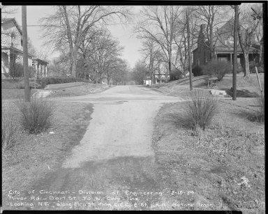 Street Improvement Photographs -- Box 51, Folder 48 (February 18, 1954) -- negative, 1954-02-18