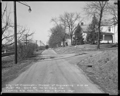Street Improvement Photographs -- Box 51, Folder 49 (February 18, 1954) -- negative, 1954-02-18