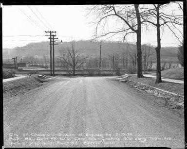 Street Improvement Photographs -- Box 51, Folder 49 (February 18, 1954) -- negative, 1954-02-18