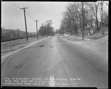 Street Improvement Photographs -- Box 51, Folder 50 (February 18, 1954) -- negative, 1954-02-18