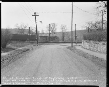 Street Improvement Photographs -- Box 51, Folder 51 (February 18, 1954) -- negative, 1954-02-18