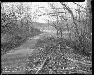 Street Improvement Photographs -- Box 52, Folder 02 (February 19, 1954) -- negative, 1954-02-19