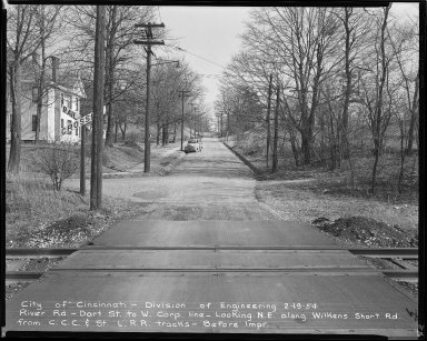 Street Improvement Photographs -- Box 52, Folder 04 (February 19, 1954) -- negative, 1954-02-19