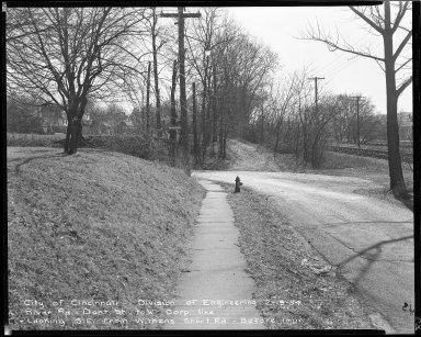 Street Improvement Photographs -- Box 52, Folder 04 (February 19, 1954) -- negative, 1954-02-19