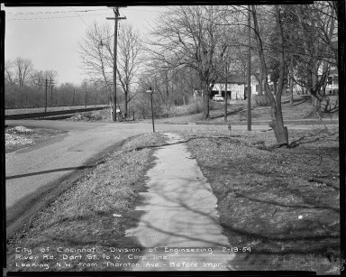 Street Improvement Photographs -- Box 52, Folder 05 (February 19, 1954) -- negative, 1954-02-19