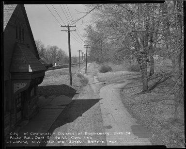 Street Improvement Photographs -- Box 52, Folder 06 (February 19, 1954) -- negative, 1954-02-19