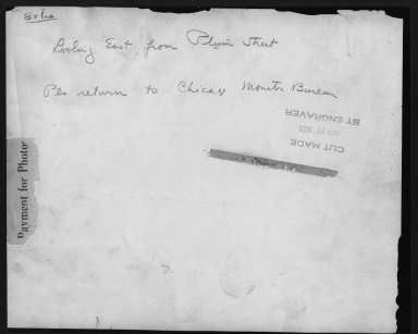 Miscellaneous Photographs -- Box 53, Folder 13 (Central Parkway) -- print, 1929 (back of photograph)