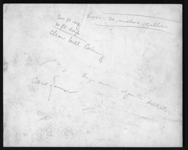 Miscellaneous Photographs -- Box 53, Folder 14 (Cincinnati Water Works) -- print, 1936-04-24 (back of photograph)