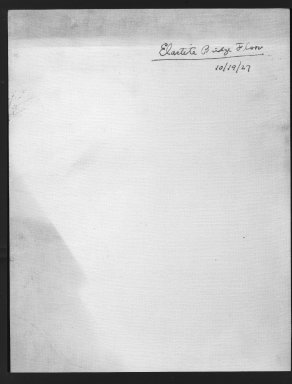 Miscellaneous Photographs -- Box 53, Folder 20 (Elartite Bridge) -- print, 1927 (back of photograph)