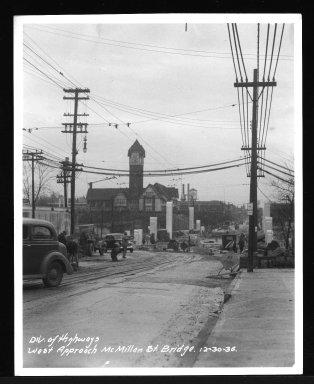 Miscellaneous Photographs -- Box 53, Folder 29 (Misc. Street improvements (small)) -- print, 1936-12-30