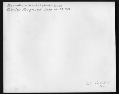 Miscellaneous Photographs -- Box 53, Folder 35 (Riverview Playground) -- print, 1936-11-27 (back of photograph)