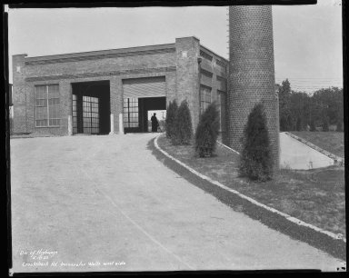 Miscellaneous Photographs -- Box 54, Folder 12 (Crookshank Road Incinerator) -- negative, 1932-05-18