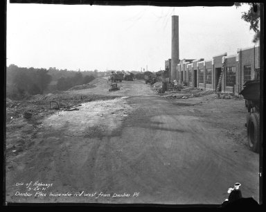 Miscellaneous Photographs -- Box 54, Folder 13 (Dunbar Place Incinerator) -- negative, 1931-09-22