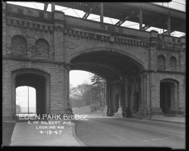 Miscellaneous Photographs -- Box 54, Folder 14 (Eden Park Bridge) -- negative, 1947-04-19