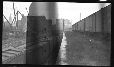 Miscellaneous Photographs -- Box 54, Folder 16 (Flood Protection Big 4 - Ditch Track Overpass) -- negative, 1941-01-12