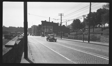 Miscellaneous Photographs -- Box 54, Folder 17 (Front Street Overpass Point Isabella) -- negative, 1940