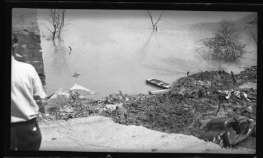 Miscellaneous Photographs -- Box 54, Folder 21 (Kellogg Avenue Slide at Little Miami River) -- negative, 1940