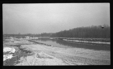 Miscellaneous Photographs -- Box 54, Folder 22 (Little Miami River Spur Dikes) -- negative, 1941-01-27