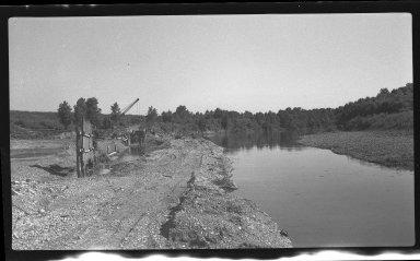 Miscellaneous Photographs -- Box 54, Folder 24 (Little Miami River Cut-Off Channel) -- negative, 1940-08-12