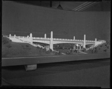 Miscellaneous Photographs -- Box 54, Folder 28 (McMillan Street Bridge Model) -- negative, 1936