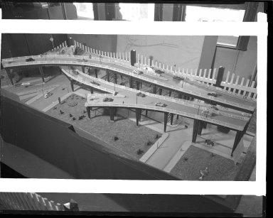 Miscellaneous Photographs -- Box 54, Folder 36 (Sixth Street Viaduct Model) -- negative, 1934